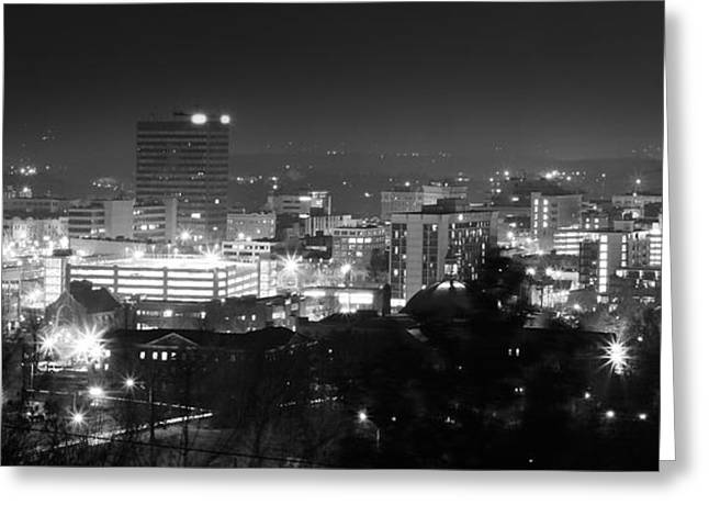 Asheville North Carolina Skyline Greeting Card by Gray  Artus