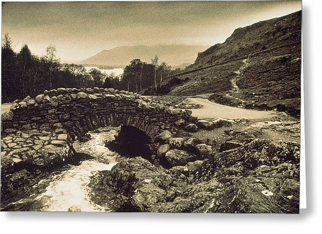 Ashness Bridge Cumbria England Greeting Card by Panoramic Images
