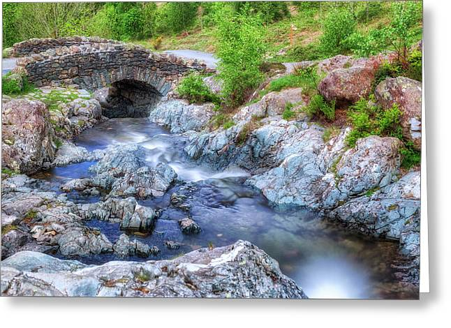 Ashness Bridge - Lake District Greeting Card by Joana Kruse