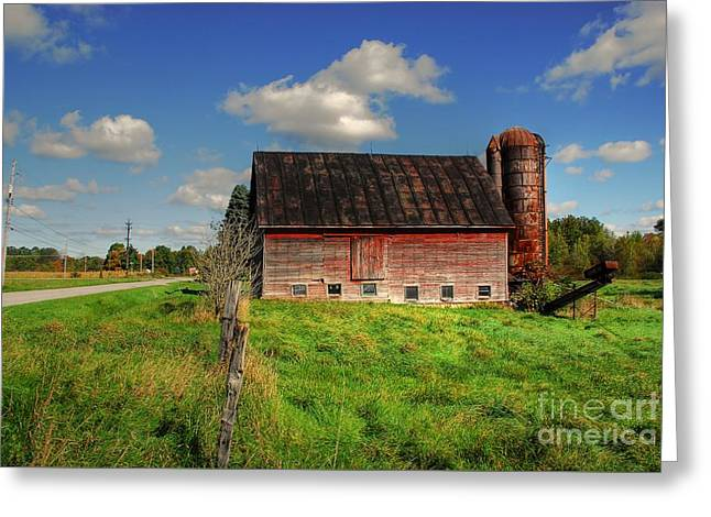 Ashtabula County Barn Greeting Card by Tony  Bazidlo