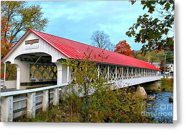 Ashuelot Covered Bridge Greeting Card by DJ Florek
