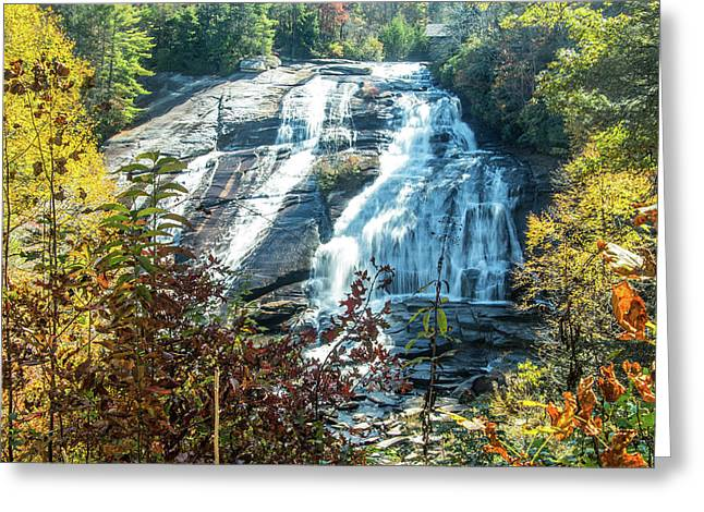 Greeting Card featuring the photograph Ashville Area Waterfall by Richard Goldman