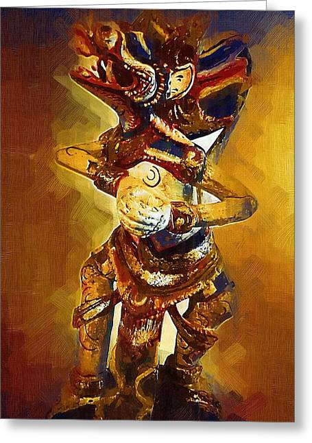Asian Dragon Man Greeting Card by Russ Harris