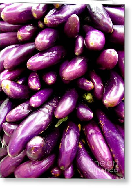 Asian Eggplant Greeting Card by Randall Weidner