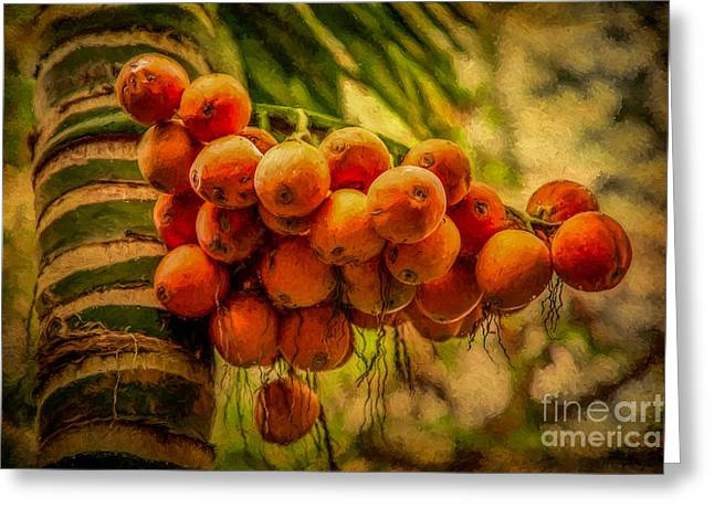 Asian Fruit Greeting Card by Adrian Evans