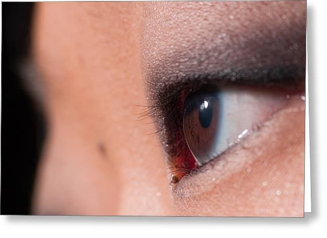 Asian Girl Eyes 1283053 Greeting Card