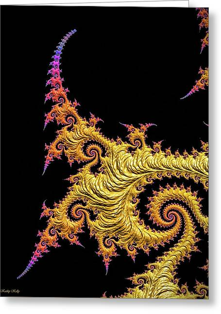 Asian Gold Greeting Card