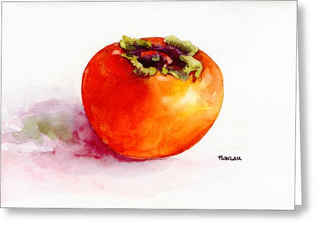 Asian Persimmon Greeting Card by Peter Lau