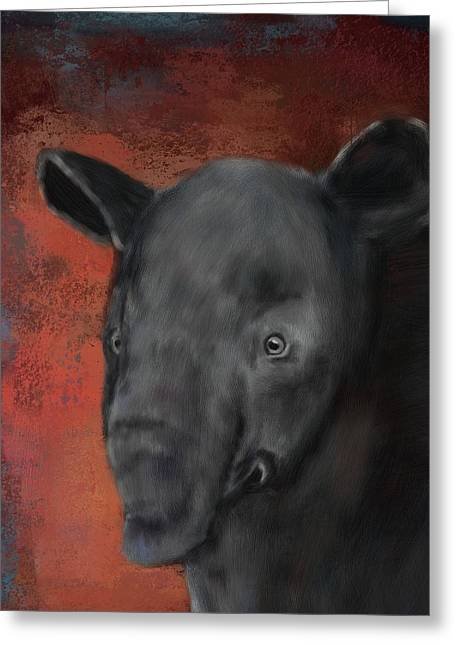 Asian Tapir Greeting Card