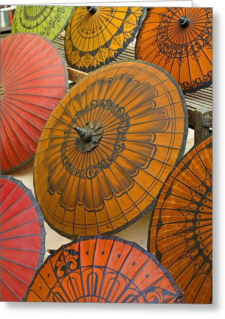 Asian Umbrellas Greeting Card