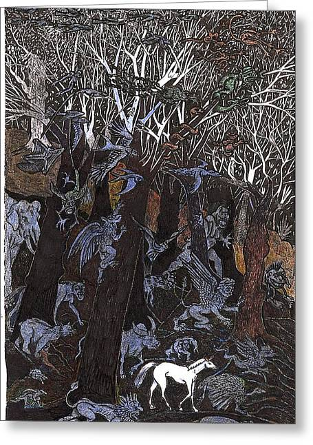 Asil In Shitaki Forest Greeting Card by Al Goldfarb
