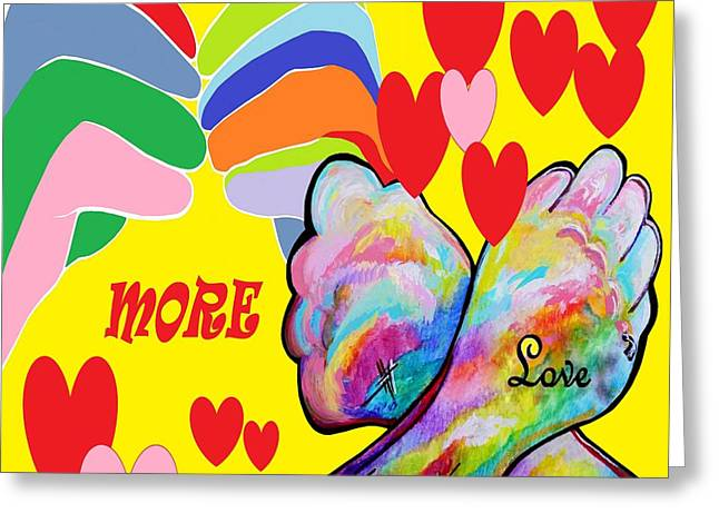 Asl More Love Greeting Card by Eloise Schneider