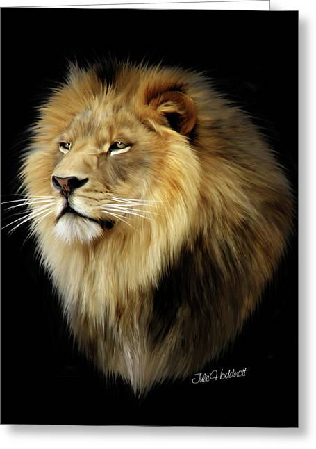 Aslan Greeting Card by Julie L Hoddinott