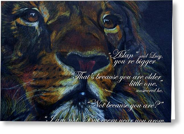Aslan Quote Greeting Card