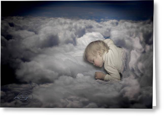 Asleep In The Clouds Greeting Card