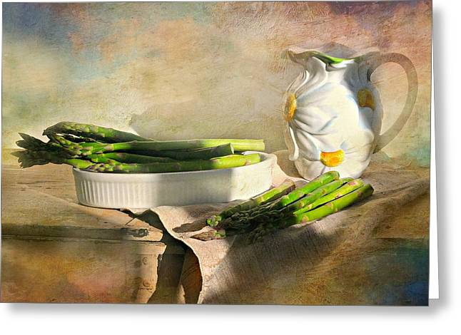 Asparagus Greeting Card by Diana Angstadt