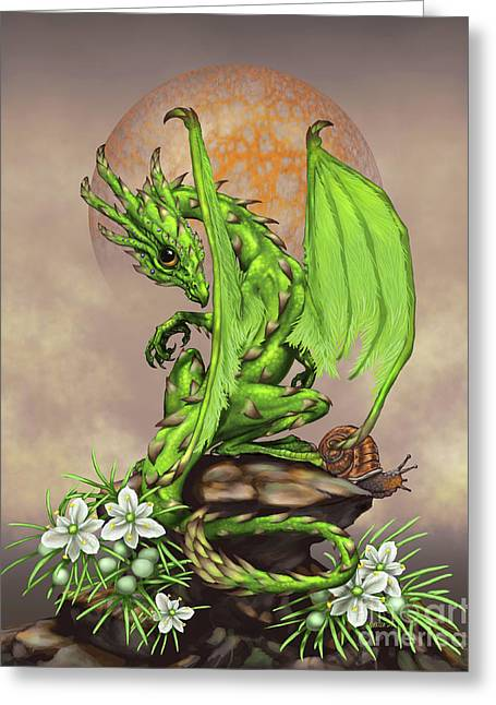 Asparagus Dragon Greeting Card by Stanley Morrison