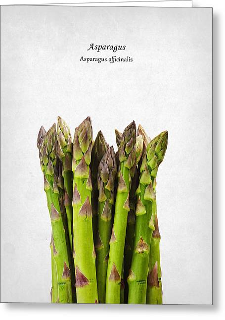 Asparagus Greeting Card by Mark Rogan