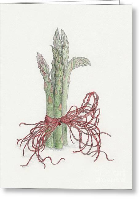Asparagus Greeting Card by Tara Poole