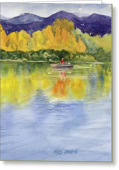Aspen Afternoon Greeting Card by Kris Parins