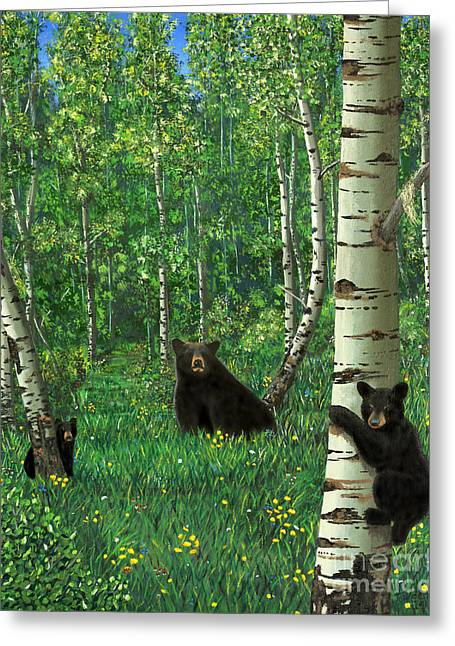 Aspen Bear Nursery Greeting Card