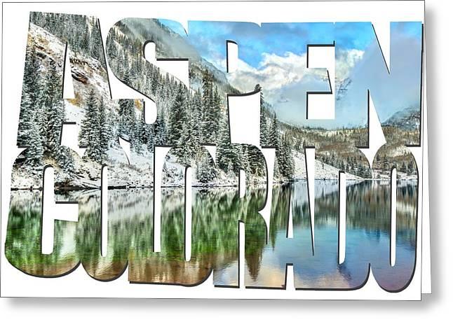 Aspen Colorado Typography - Colorado Living Greeting Card