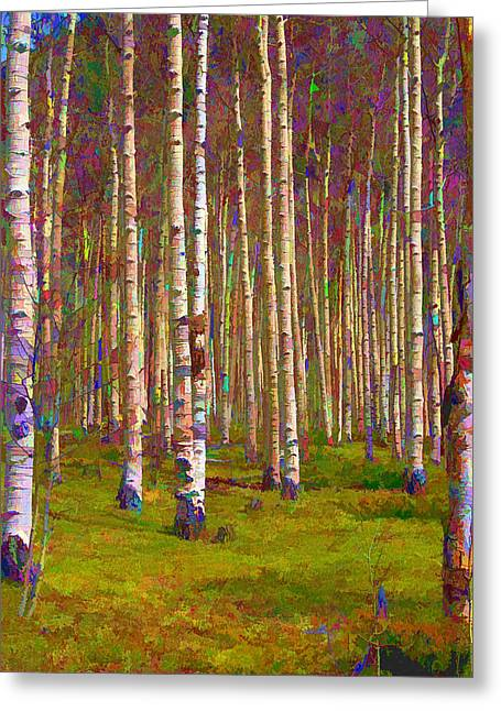 Aspen Dawn II Greeting Card