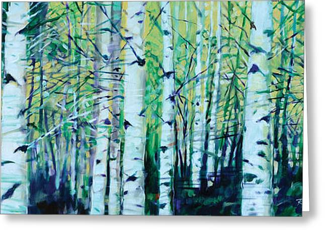 Aspen Fall Greeting Card by Ron Patterson