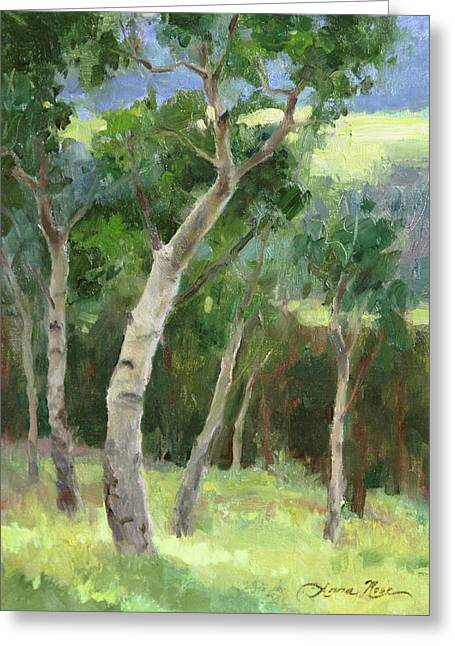 Aspen Grove I Greeting Card by Anna Rose Bain