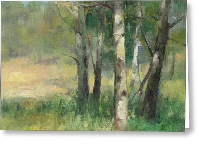 Aspen Grove II Greeting Card by Anna Rose Bain