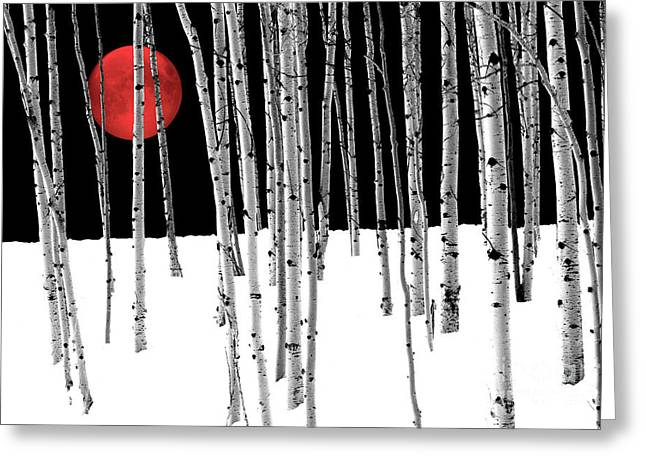 Aspen Grove Winter Greeting Card by Juli Scalzi