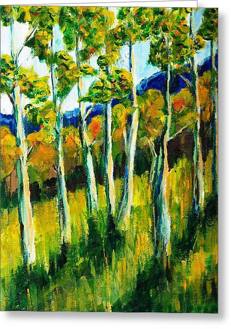 Aspen Highlands Greeting Card by Randy Sprout