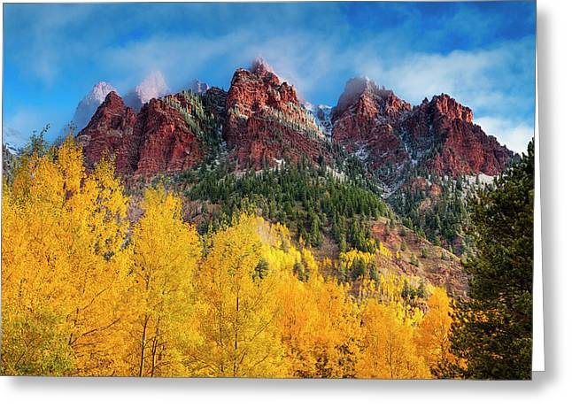 Greeting Card featuring the photograph Aspen Morning by Andrew Soundarajan