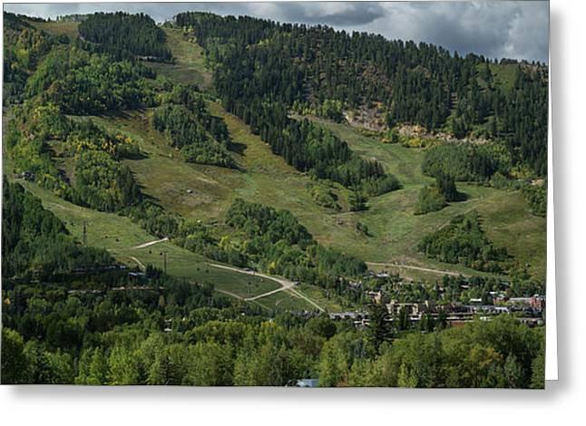 Aspen Mountain Late Summer Greeting Card by Steve Gadomski