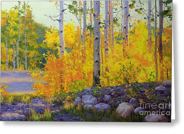 Aspen Vista Greeting Card by Gary Kim