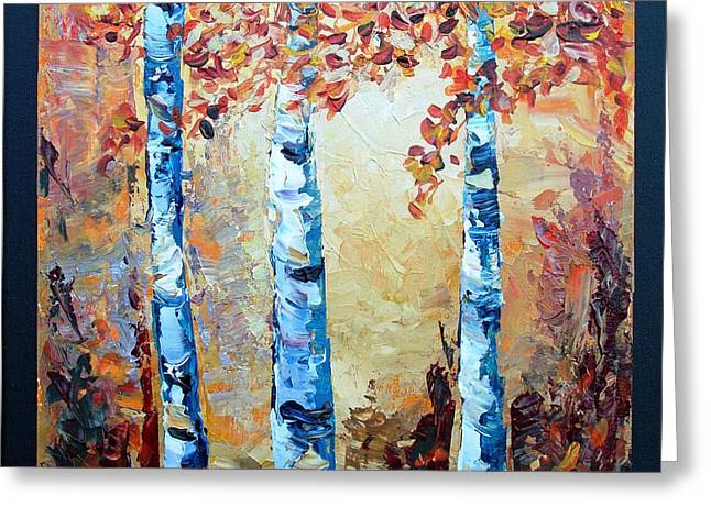 Aspens In Glow Greeting Card