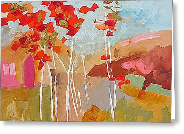 Aspens Greeting Card by Linda Monfort