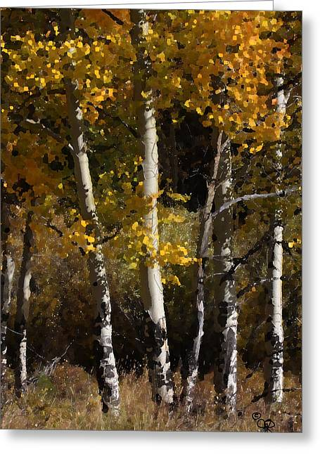 Greeting Card featuring the photograph Aspens Palate Knife by Judy Deist