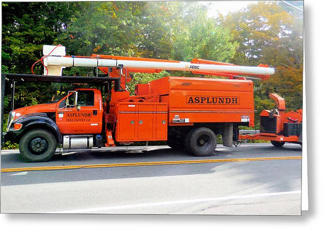 Asplundh Tree Expert Company Trucks Greeting Card