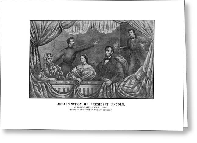 Assassination Of President Lincoln Greeting Card