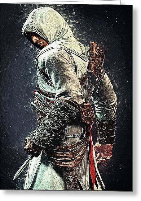 Assassin's Creed - Altair Greeting Card by Taylan Apukovska