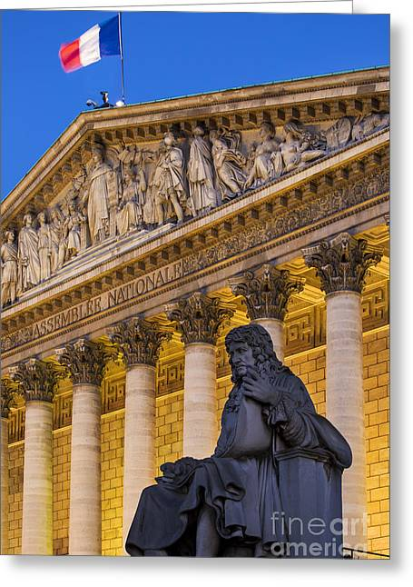 Assemblee Nationale - Paris II Greeting Card