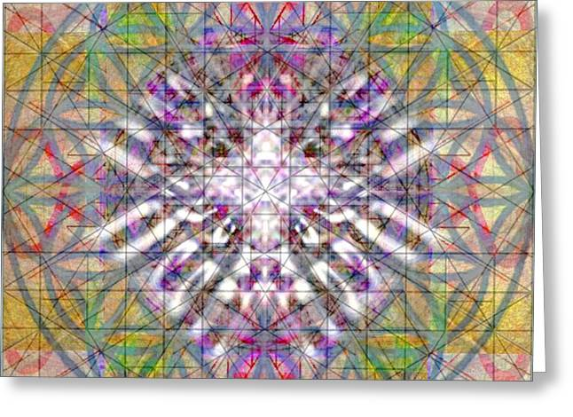 Assent From The Womb In The Flower Tree Of Life Greeting Card by Christopher Pringer