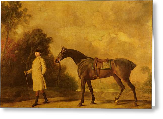 Assheton, First Viscount Curzon, And His Mare Maria Greeting Card by George Stubbs