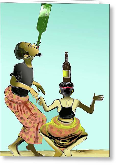 Assiko Dance Cameroon 01 Greeting Card by Emmanuel Baliyanga