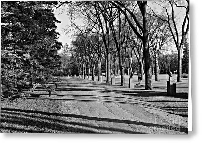 Greeting Card featuring the photograph Assiniboine Park by Cendrine Marrouat