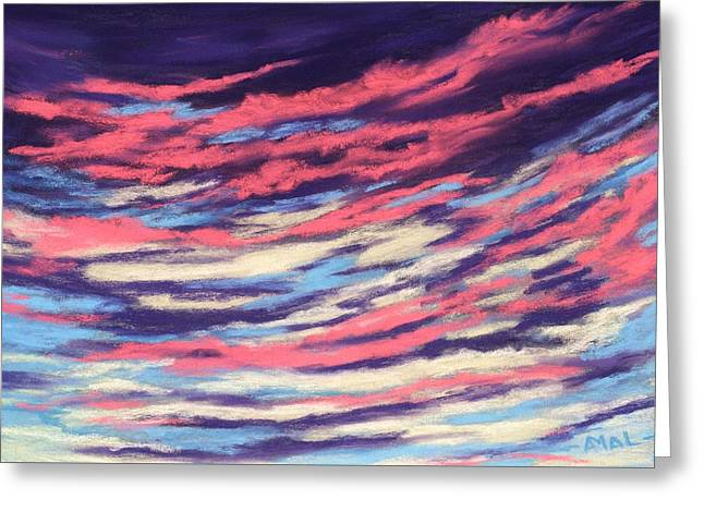 Greeting Card featuring the painting Associations - Sky And Clouds Collection by Anastasiya Malakhova