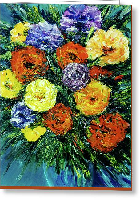 Assorted Flowers #191 Greeting Card by Donald k Hall