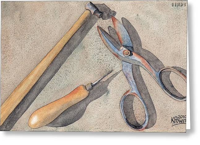 Assorted Tools Greeting Card by Ken Powers