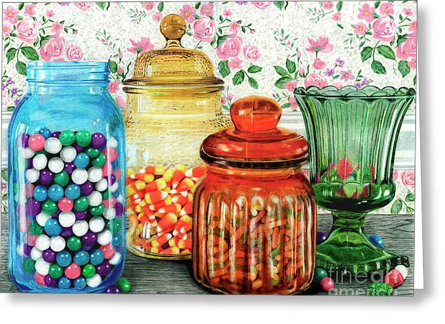 Assortment Of Color And Taste	Color Pencil On Paper Greeting Card by Peter Piatt